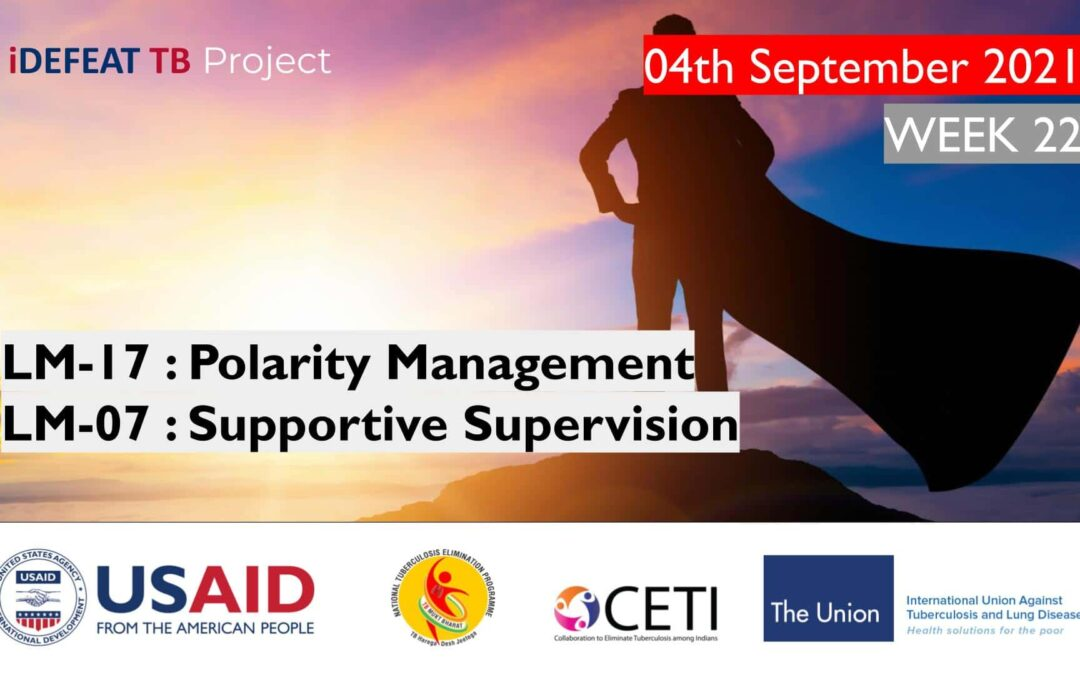 PMEC B1 | LM-17 : Polarity Management LM-07: Supportive Supervision