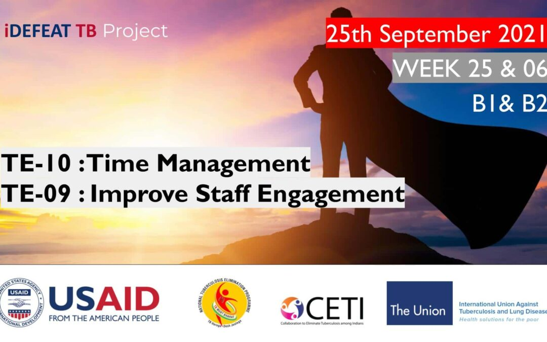PMEC B1 B2 | TE-10 : Time Management TE-09 : Improve Staff Engagement